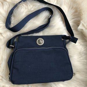 Baggallini navy blue crossbody handbag purse